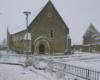 Eglise d'Auzouer-en-Touraine sous la neige